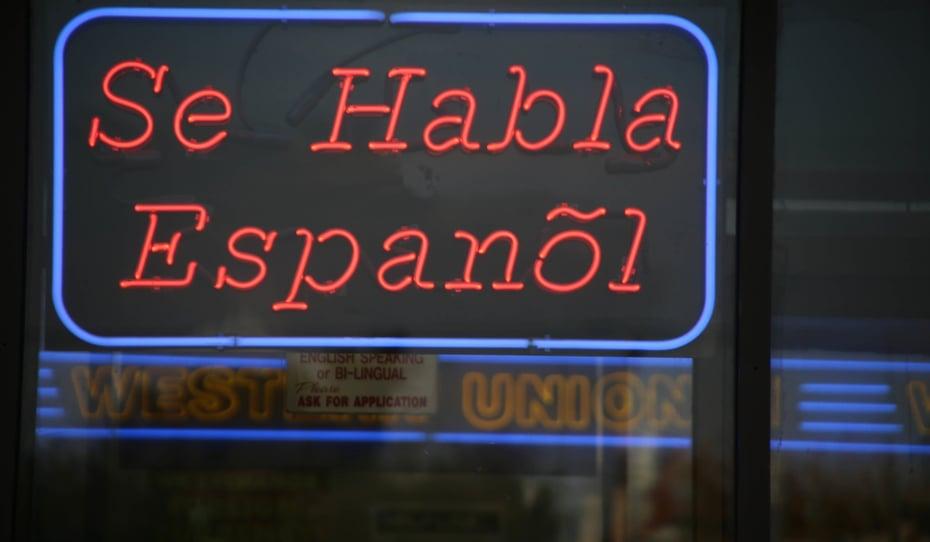 Se Habla Espagñol -Schild