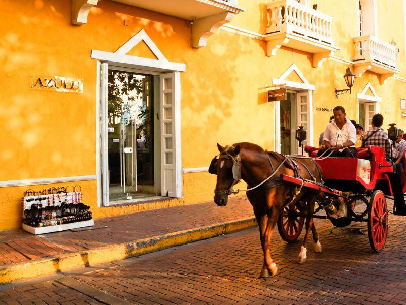Auf den Straßen Cartagenas