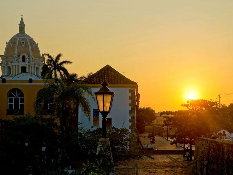 Sonnenuntergang in Cartagena