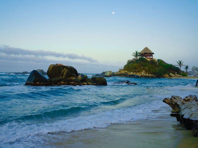 Strand am Nationalpark Parque Tayrona