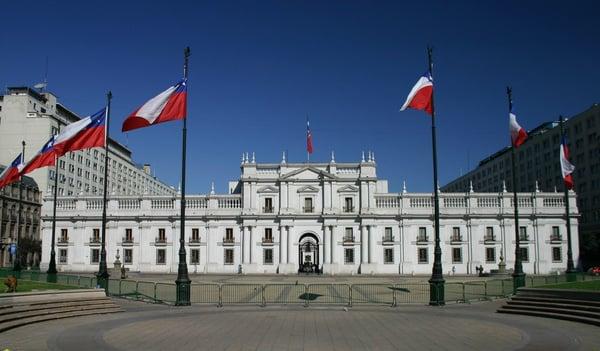 Santiago de Chile Sehenswürdigkeiten: Palacio de la Moneda. Quelle: Flickr