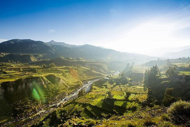 Inka-Terassen im Colca-Tal
