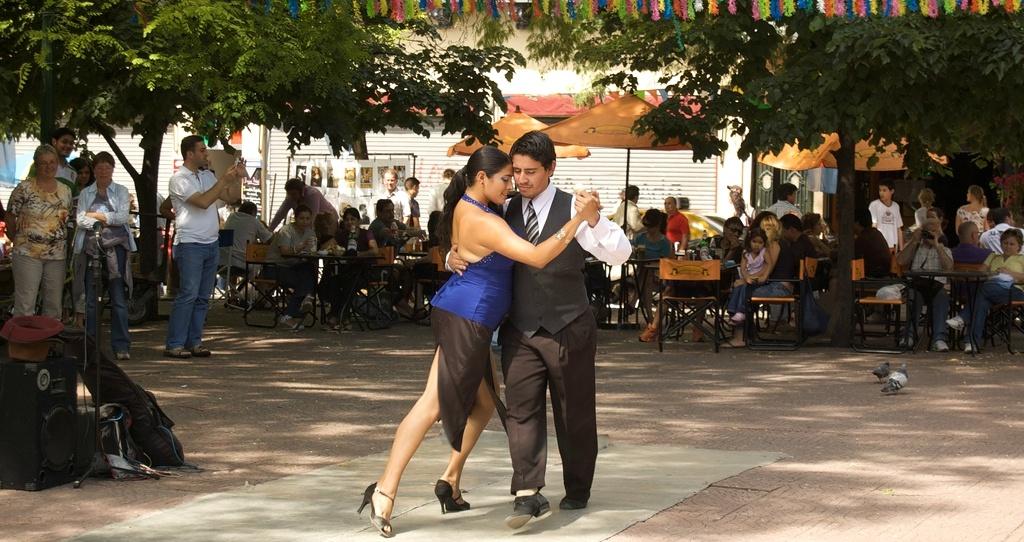 Sonntagstango auf der Plaza Dorrego. Quelle:flickr