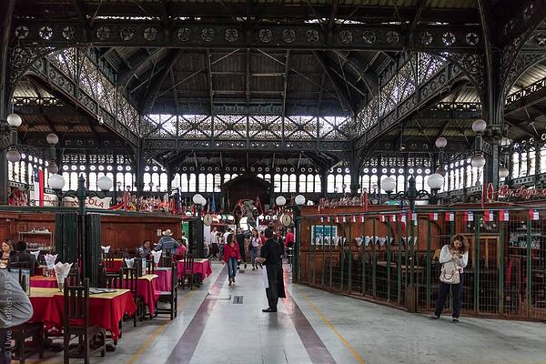 Santiago de Chile Sehenswürdigkeiten: Mercado Central. Quelle: Flickr.