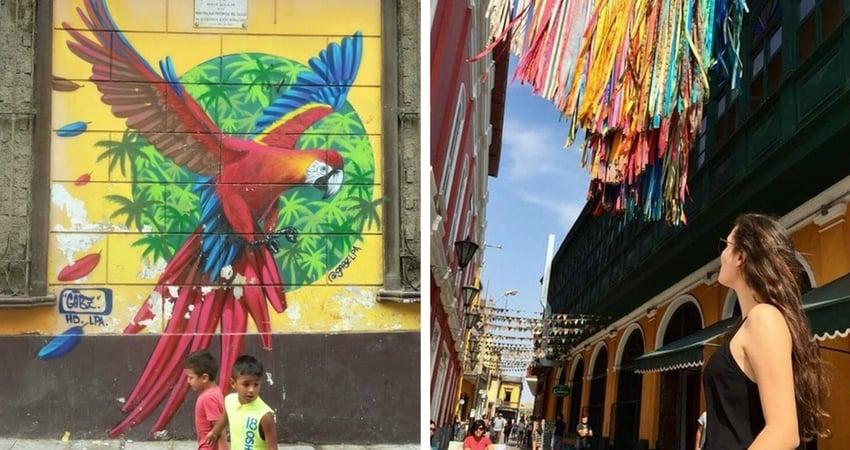 Streetart an der Plaza Matriz in Callao. Quelle: A.Pröckl/ B. Köhel Soldevilla.