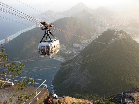 Gondelbahn auf den Zuckerhut in Rio. Photo: viventura
