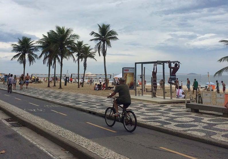 Auf der Promenade von Ipanema - Rio de Janeiro