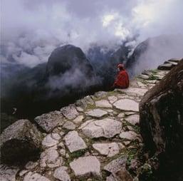 Eine Straße der Inka durch die Anden. Photo Credit: American Museum of History