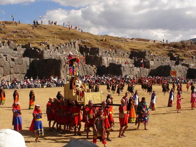 Die Inti Raymi Feier in Cuzco