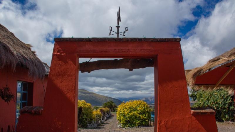 Die Hacienda El Porvenir liegt inmitten von vier Vulkanen südlich von Quito.