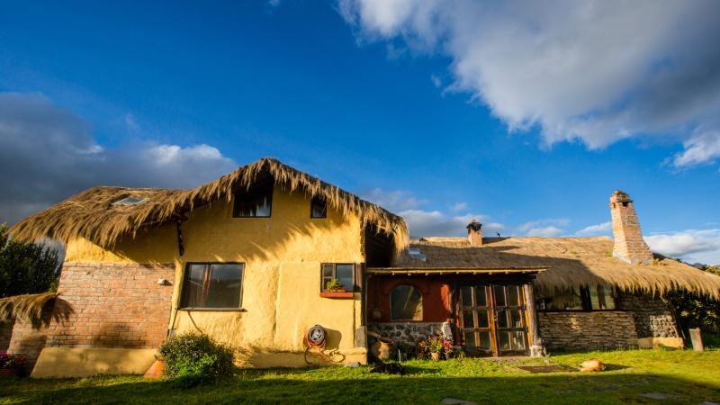 Die Gebäude der Hacienda El Porvenir sind ehemalige Stallungen und einfache Wohnhäuser, die nach und nach umgebaut wurden.