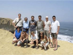 Yngrid Arnold von viventura mit einer Reisegruppe im Jahr 2012