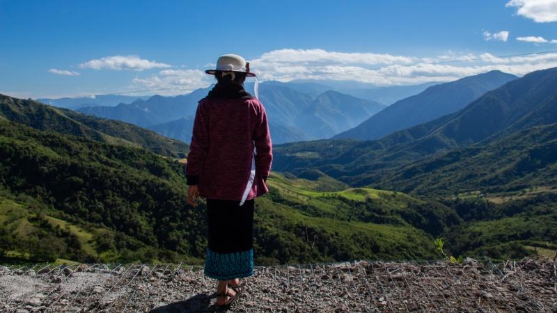 Das Tal von Yunguilla, hier auf dem Weg zwischen den Wohnhäusern und dem Gemeinderestaurant.