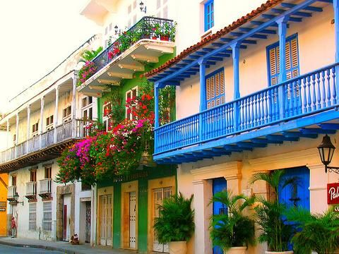 Koloniale Architektur in Cartagena