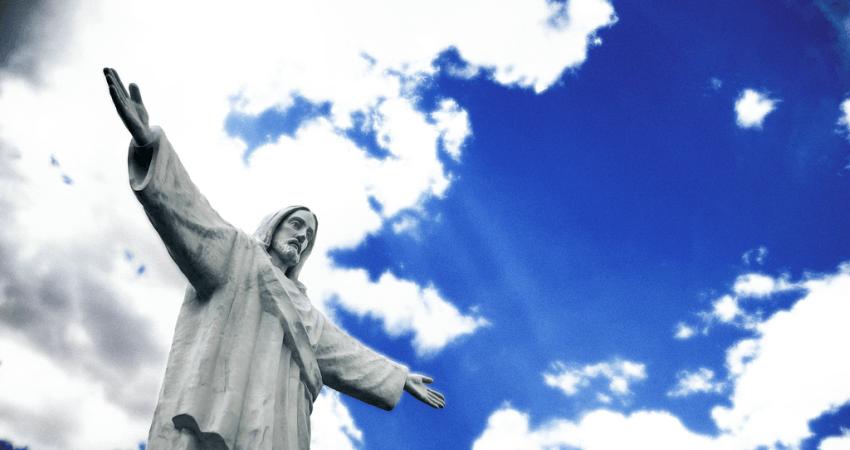 Cristo Blanco über Cusco.