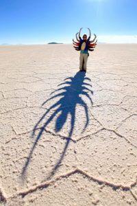 Spaßbilder in Uyuniwüste- Skorpion