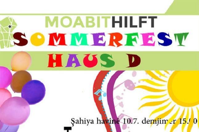 Der Flyer des Sommerfests für Moabit.hilft