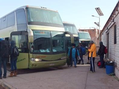 Ein Übernachtbuss in Südamerika