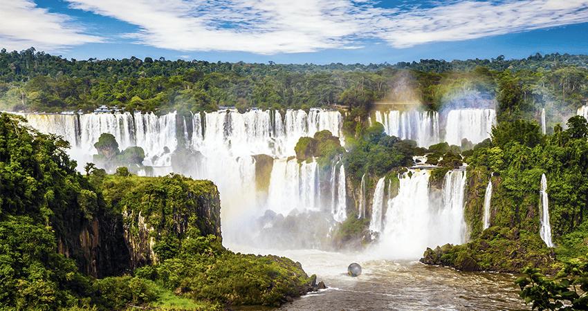 Zorbing in Iguazú